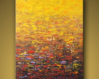no27 Original Large Abstract Modern Art Oil Painting - Michel Campeau - MADE TO ORDER - 48''x60""