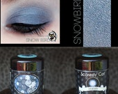 Blue Eye Shadow - Vegan - Loose Mineral Pigment Eyeshadow - Scaredy Cat -  SNOW BIRD - 5 mL Sifter