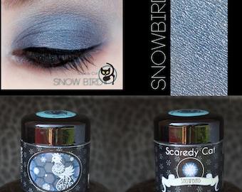 Blue Eye Shadow - Vegan - Loose Mineral Pigment Eyeshadow - Scaredy Cat -  SNOW BIRD - 5 mL Sifter