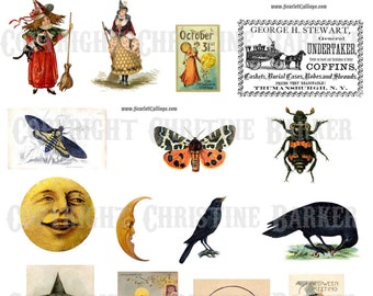 Halloween Vintage Clip Art Sheet