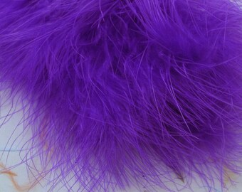 bright purple Marabou Feathers MRD-64 craft feathers wispy Craft feathers boutonnieres fly tying crafts