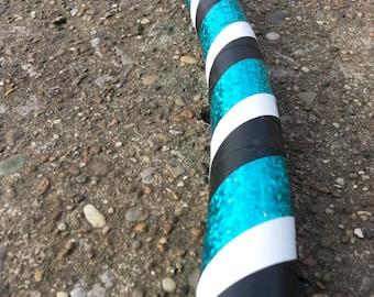 Aquamarine, Black and White Adult Hula Hoop