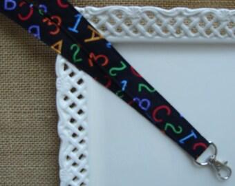 Fabric Lanyard Badge ID -  ABC's & 123's