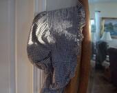 On Sale Grandmother's Garden/ Bonnet/ Blue Checkered Cotton/ Movie Prop/ Authentic