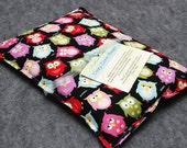Microwavable Corn Heating Pad  -- Sleepy Owls, pillow 10x14