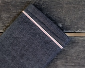 Handmade Raw Denim iPad and Macbook Sleeve, Selvedge Blue - Compatible with iPad or iPad Mini or Macbook