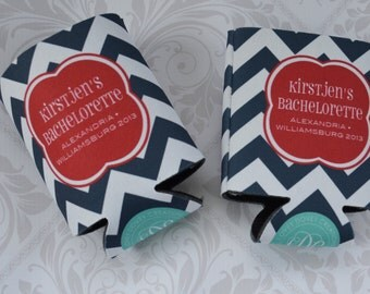 Personalized Bachelorette Coolies - Customize Colors- Bachelorette/ Bridesmaid Can Coolers