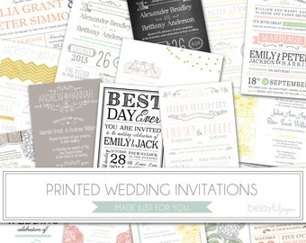 Printed Wedding Invitations of your choice - Invitation, Rsvp, and envelopes. custom design