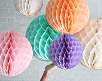 Nursery Decor Baby Mobile ...  honeycomb  .. candy table buffet tablescape // weddings // birthday party // baby shower // nursery // easter