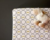 Organic Fitted  Crib Sheet- baby boy bedding-Toddler Bed Fitted sheet-  mustaches