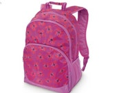 Poppy Floral Backpack from All for Color, monogrammed with your name, customized