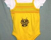 Garanimals Jumper with Black Bumblebee Embroidery Yellow Aqua Pink