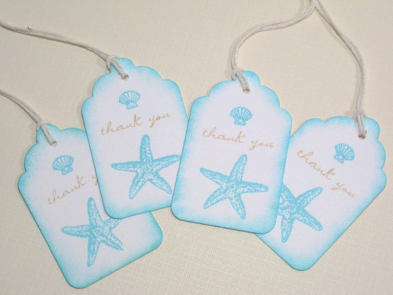 Destination Wedding Favor Tags or Bridal Shower Tags - Seashell Gift ...