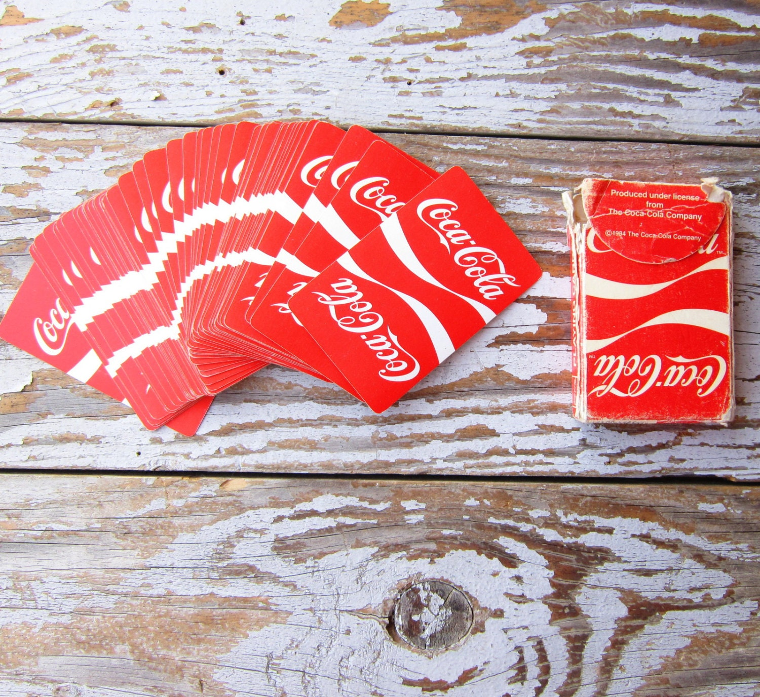 vintage coca cola playing cards 1984. Black Bedroom Furniture Sets. Home Design Ideas