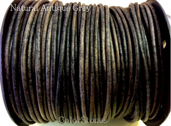 1 5 Mm 32 80 Ft Genuine Leather Round Cord Natural
