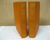 """Zane Grey Western Book Collection Matching Set of Two Home Decor Books For Young Readers Collection """"Western Union"""" & """"30,000 On The Hoof"""""""