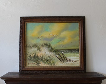 Seascape in antique frame