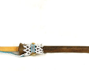 Pedi Pipe Decorated with Beads South Africa Rare  29544