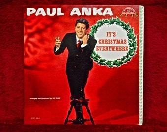CHRISTMAS...PAUL ANKA - It's Christmas Everywhere - 1960 Vintage Vinyl Record Album