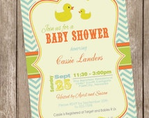 Boy rubber ducky baby shower invitation,  rubber duckie baby shower invitation, boy baby shower invitation, printable invitation