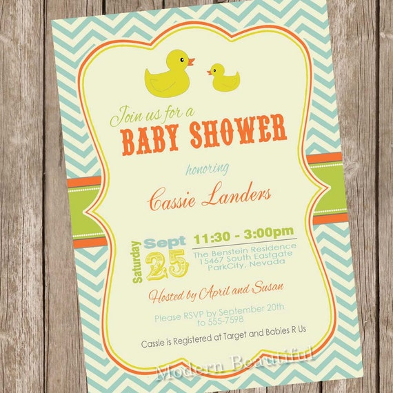 ducky baby shower invitation rubber duckie baby shower invitation
