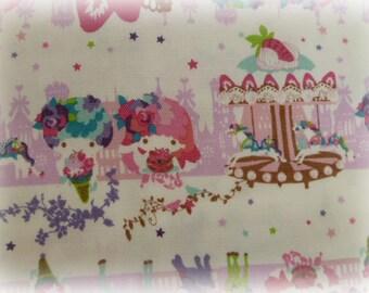 Kiki&Lala and  KayoHoraguchi corroboration fabric One yard white colour
