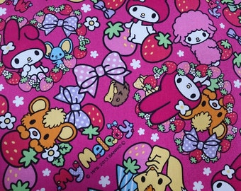 Candy My melody fabric hot  pink colour