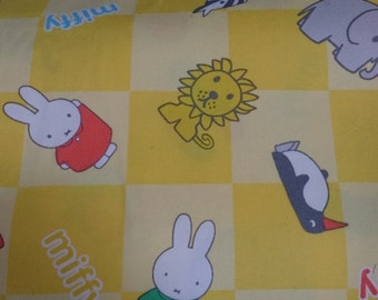 Miffy fabric yellow colour by Half yard