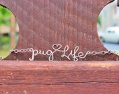 Pug Life Wire Necklace