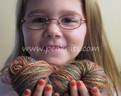 "Yarn 100 yards (300 feet) ""Over the Rainbow"" - Red, Orange, Yellow, Blue and Green Multi Strand Cotton Yarn"