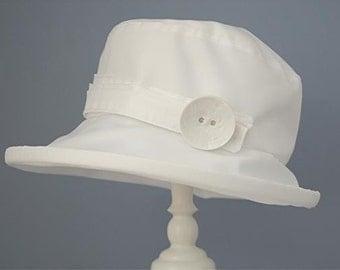 White PU Rain Hat