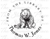 Personalized Custom Stamp - Bear / Library - PK302