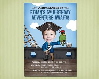 digital pirate birthday invite