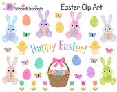 Easter Clip Art - Easter Bunny Clip Art - Digital Clipart - Instant Download - Commercial Use