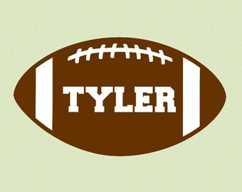Football Personalized with Name Wall Decal