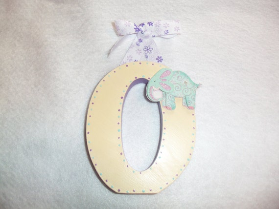 Items Similar To Hand Painted Wooden Letters For Nursery