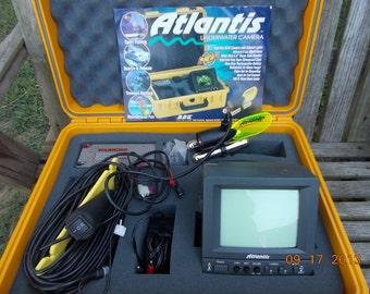 SALE-Atlantis Underwater Video Camera-High Res. Infrared Night Vision, Waterprf. Case, 9 Hr. Rechg. Battery