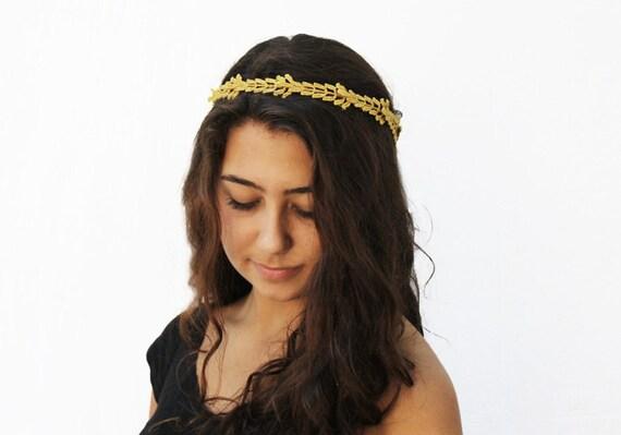 Items similar to Gold Leaf Crown - Greek Goddess, Gold ...
