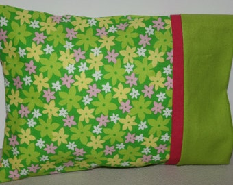 "Pillowcase and Pillow for Doll  Size 8 1/2"" X 6 1/2 """
