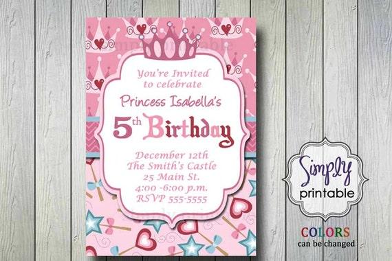 Princess Birthday Party Invitation (printable)