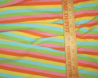 Rock Sugar Cotton Lycra Stripe Knit Fabric