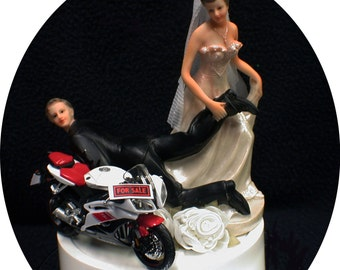 funny motorbike wedding cake topper chandeliers amp pendant lights 14558