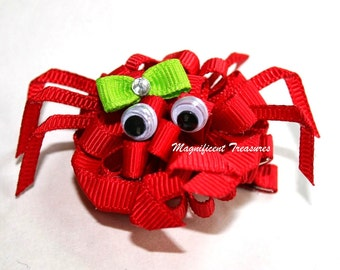 Mini Crab Loopy Puff Bow