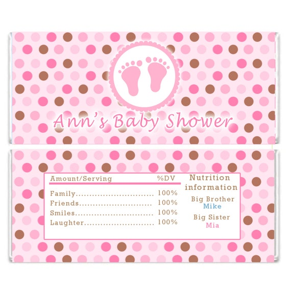 It is a photo of Zany Free Printable Baby Shower Candy Bar Wrappers