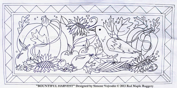 Items Similar To Bountiful Harvest Rug Hooking Punch