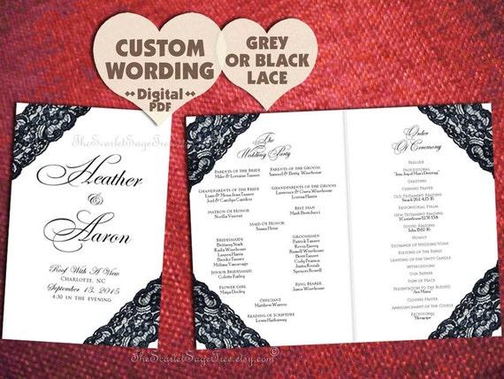 How to Design Wedding Program Template