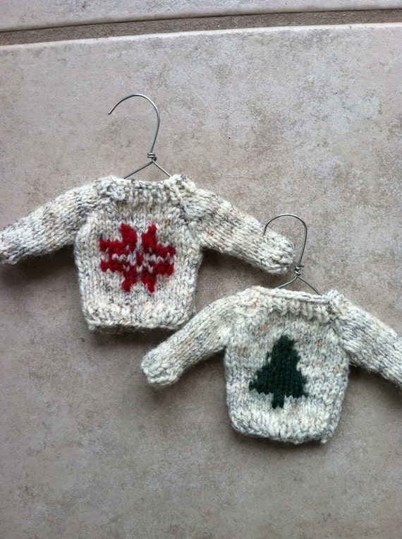 Mini Hand Knit Christmas Sweater
