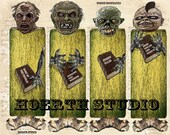 printable zombie Macabre Gothic  Sci Fi Horror Instant download