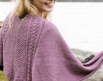 Alpaca & Silk Knit Shawl w/Textured Pattern - Made to Order - free shipping in USA