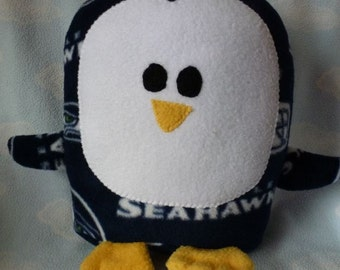 Plush Seattle Seahawks Penguin Pillow Pal, Baby Safe, Machine Wash and Dry